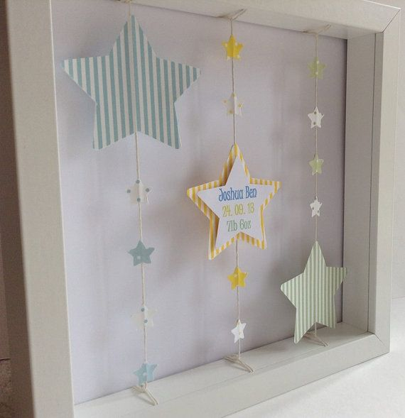 Personalised Framed Paper Art Picture por LittleLoveliesCraft