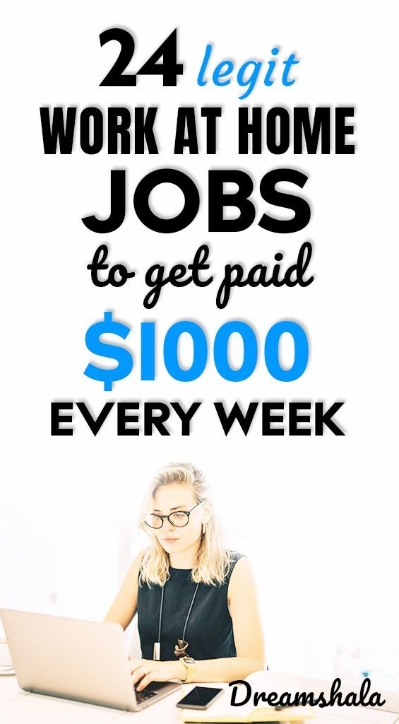 21 Genuine Work At Home Jobs That Pay Weekly Work From Home Jobs Work From Home Opportunities Home Jobs