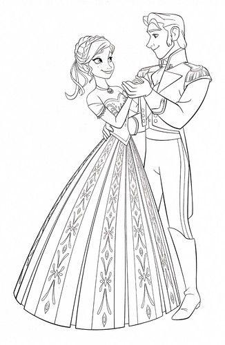 disney frozen coloring pages | Walt Disney Coloring Pages - Princess Anna & Prince Hans - walt-disney ...