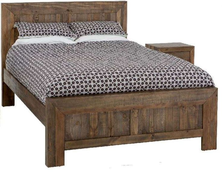 GERONA Queen Solid Timber  Bed- Smokey Pine