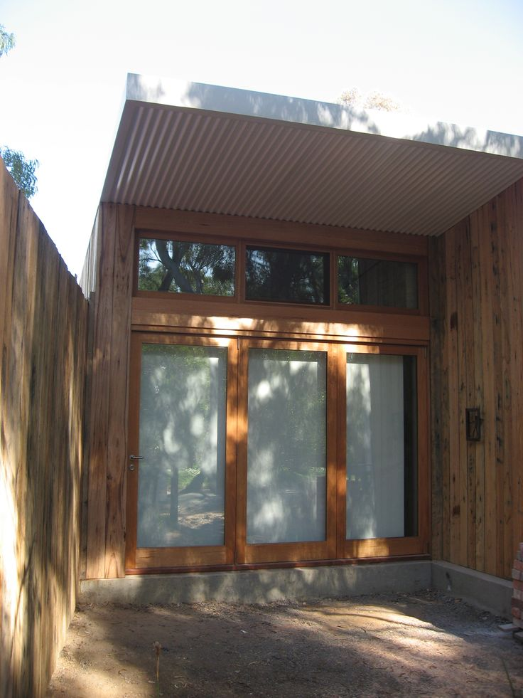 Bi Fold Doors to the future deck zone overlooking the Creek