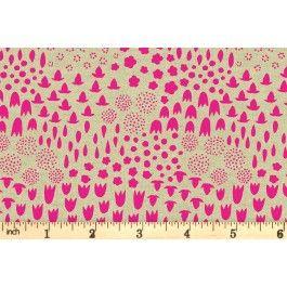 Andover Fabrics - Tiger Plant - Folk Floral - Neon (8644/E)