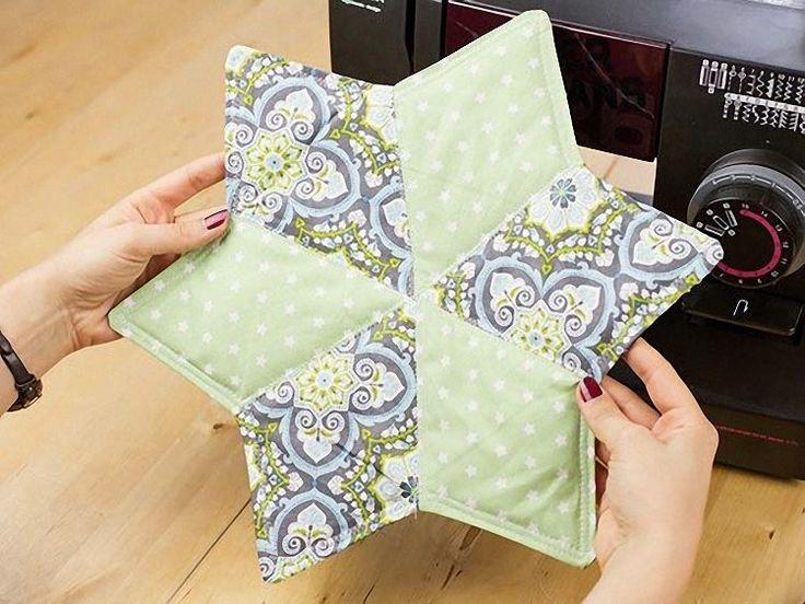 Tutoriale DIY: Cómo hacer manteles individuales con forma de estrela vía DaWanda.com