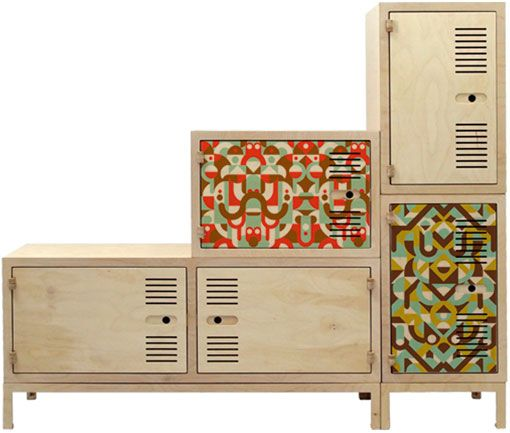 plywood cabinets...very cool.