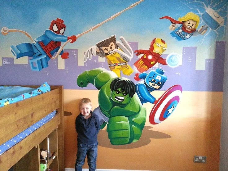 Lego Avengers Mural Painted In 3 Days Super Heros
