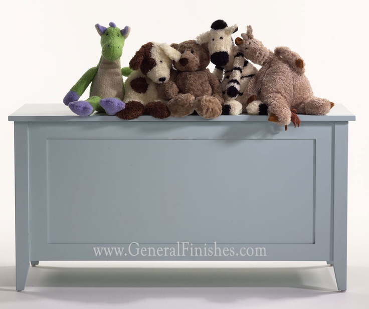 Toy Chest Painted With General Finishes Water Base Milk Paint  Color Baby  Blue. Visit