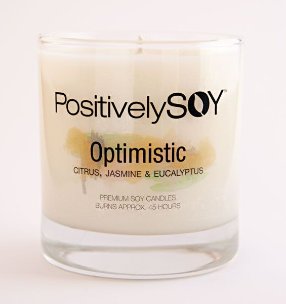 Optimistic Soy Candle - Reflecting a favorable view of events and conditions and the expectation of a positive outcome.