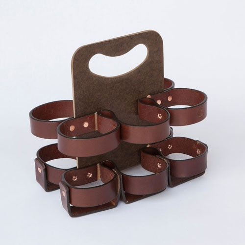 Leather 6 Bottle Carrier