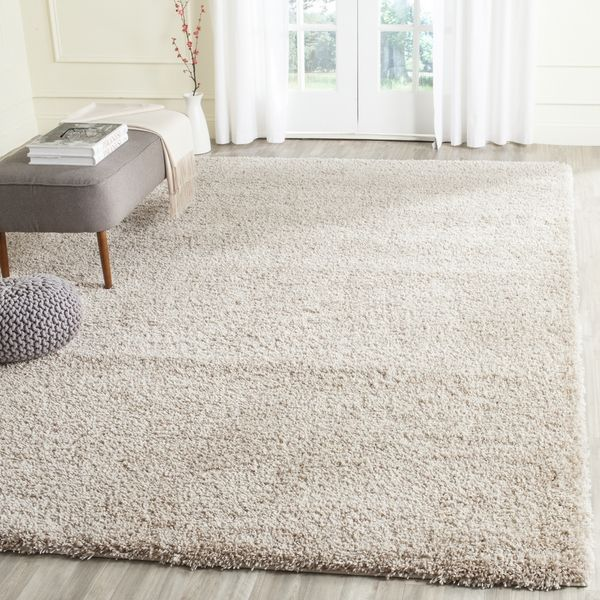Safavieh California Cozy Plush Beige Shag Rug 8 X 10