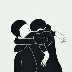 <<Y entonces los cuerpos se superponen, nos enredamos en conflictos motores, la tension de no poder (re)tenerte hace de mi un hilo que se autoconduce a tu cuerpo.>> art Daehyun Kim - Moonassi drawings