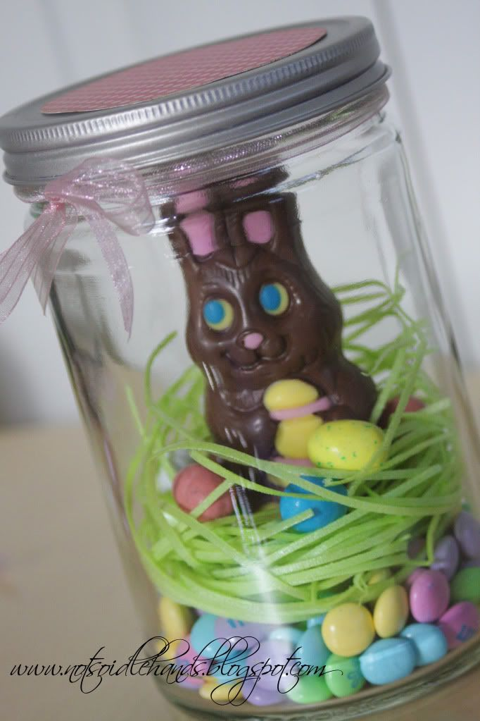 EASTER BUNNY in a Jar