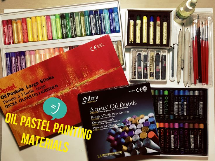 They are the materials which I use for my Oil Pastel paintings. There are several brands for Oil pastels you can find at art stores, then I recommend you to check how much the pastels are soft and …