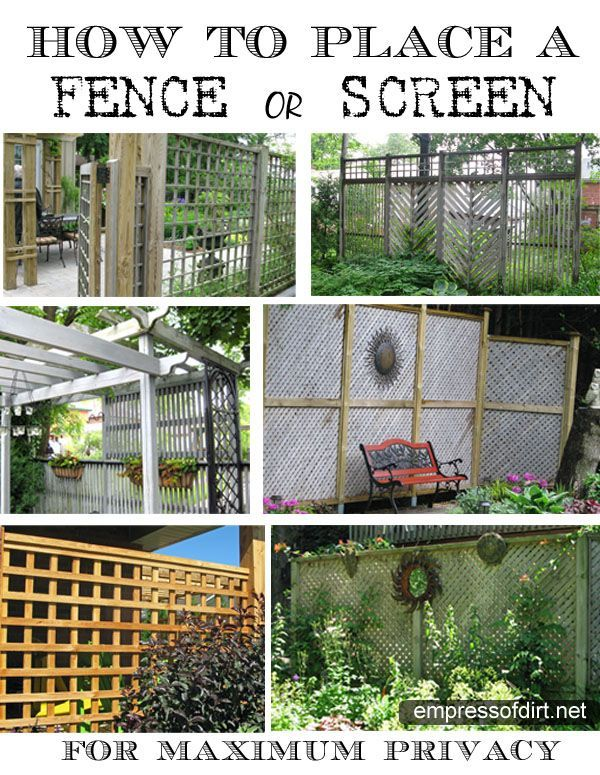 How to place a fence or screen for maximum privacy - there's an easy trick to it