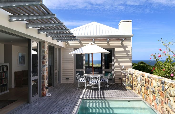 Hermanus Vista: Patio deck & pool. FIREFLYvillas, Hermanus, 7200 @FIREFLYvillas, bookings@fireflyvillas.com, #HermanusVista #FIREFLYvillas, #HermanusAccommodation