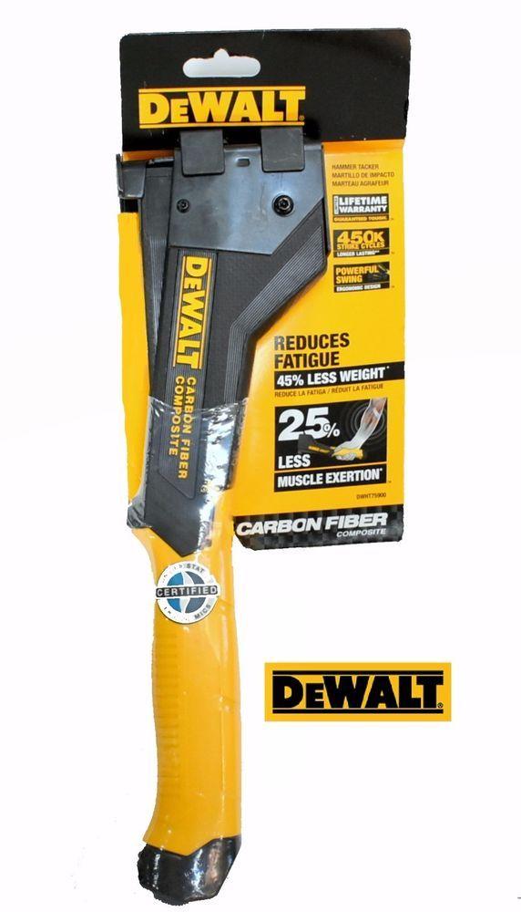New DEWALT Hammer Tacker Staple Gun Hand Tool Fastener Carbon Fiber Lightweight #DEWALT