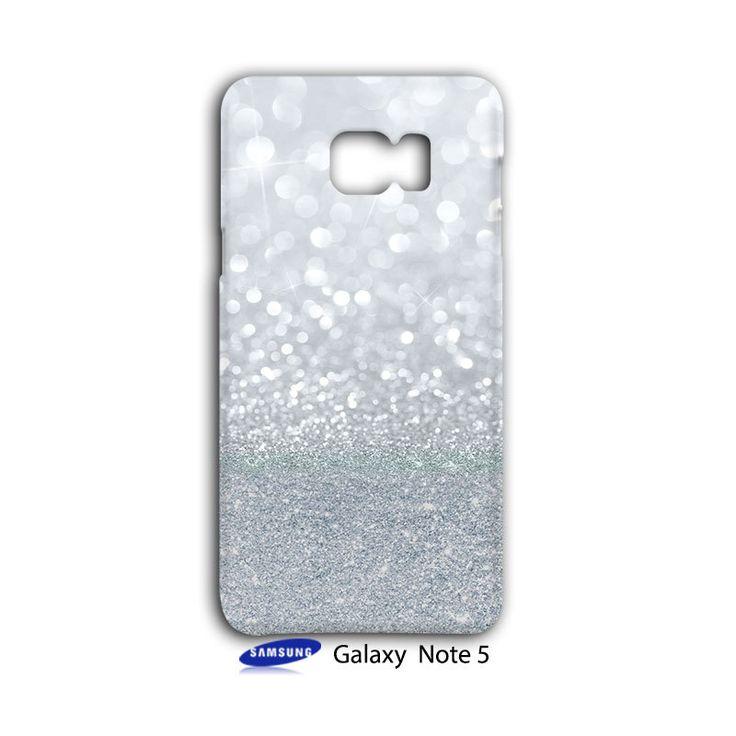 Sparkle Grey Glitter Samsung Galaxy Note 5 Case Cover Wrap Around