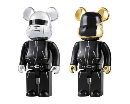 Daft Punk inspired Be@rbricks will be released in July this year, featuring the electronic duo's signature attire of helmets and bodysuits.