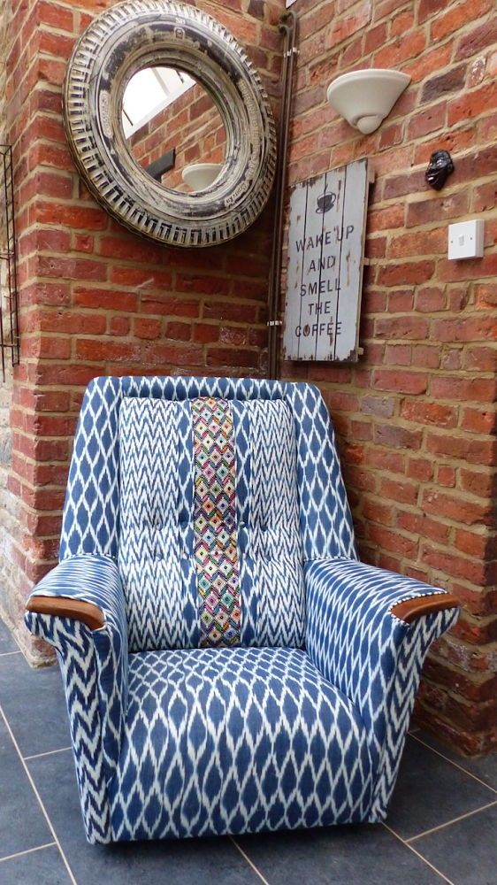 Retro armchair made by Anthony divine, Twist of A Rum Fellow London