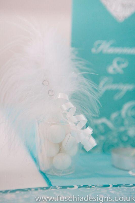 Shot glass mint wedding favour, www.fuschiadesigns.co.uk
