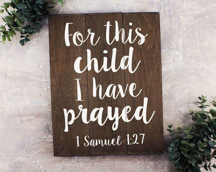 For this child I have prayed sign For this Child I have prayed Wall Art Rustic Nursery Art Woodland Nursery Art Baby Shower Decoration