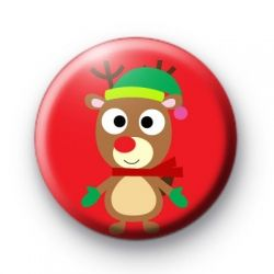 Christmas Reindeer Red Badges Christmas xmas Button Badges