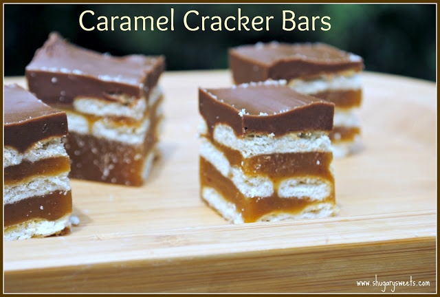 Caramel Cracker Bars- easy delicious treats made from Ritz crackers, butterscotch and more! www.shugarysweets.com