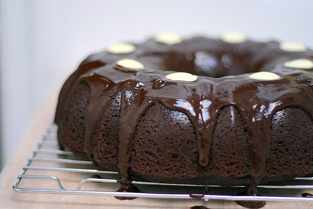 Chocolate stout cake with ganache frosting. I've had this once and ...