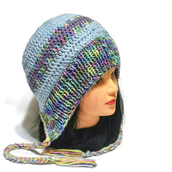 Check out this item in my Etsy shop https://www.etsy.com/ca/listing/477679760/women-ear-flap-cap-colorfull-chullo-hat
