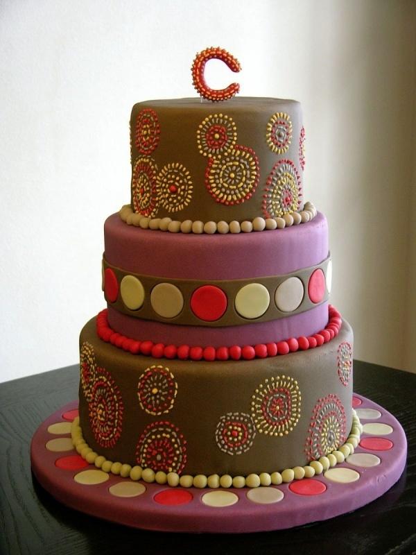 Mod Circular Wedding Cake
