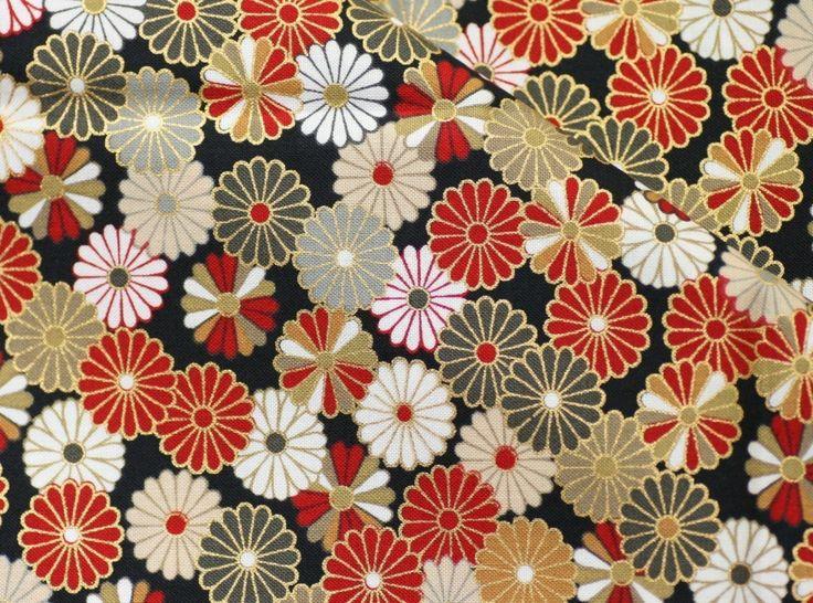 Beautiful  Kimono pattern Japanese fabric. $4.50, via Etsy.