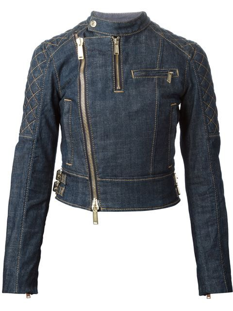 Shop DSQUARED2 denim biker jacket in Mantovani from the world's best independent boutiques at farfetch.com. Over 1000 designers from 300 boutiques in one website.