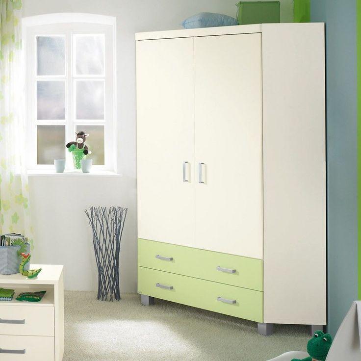 Eckschrank mit zwei Türen von Paidi aus der Serie Biancomo. Die Frontfarbe der Schubladen kann auch in Ecru, Rosé oder Bleu gewählt werden.