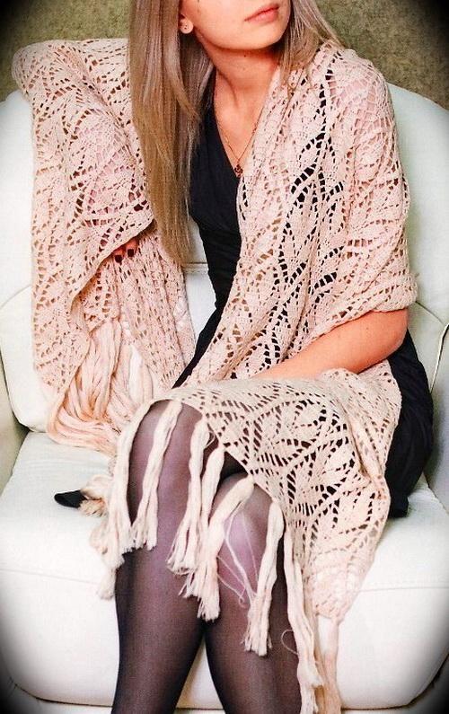 Stylish Easy Crochet: Crochet Shawl Wrap Pattern Free