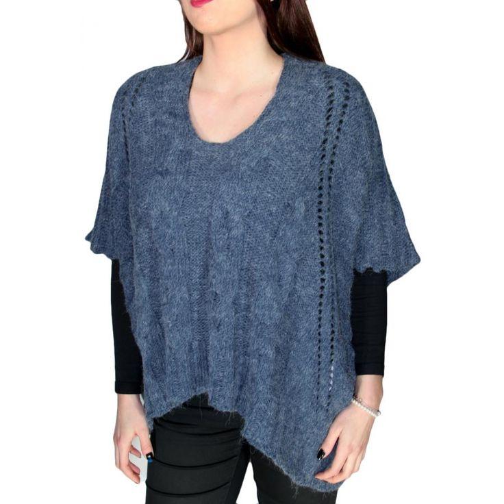 ALE Γυναικεία πλεκτή μπλούζα πόνσο