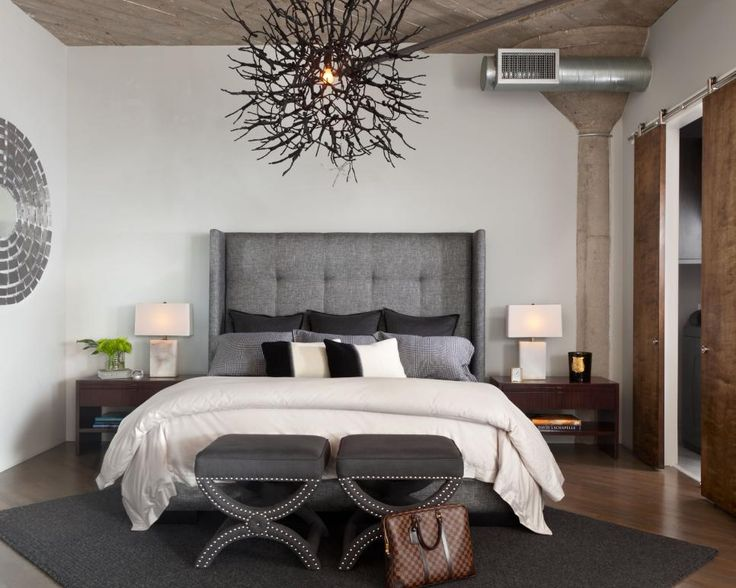 Gray  white and neutral hues come together to create this serene master  bedroom  Two. 9 best New bedroom images on Pinterest