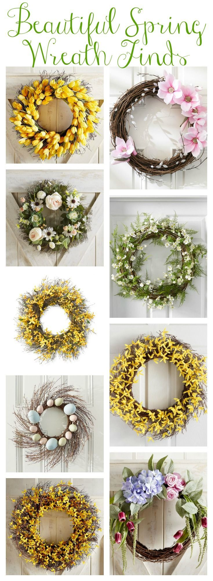 Our Spring Front Porch & Beautiful Spring Wreaths - The Happy Housie