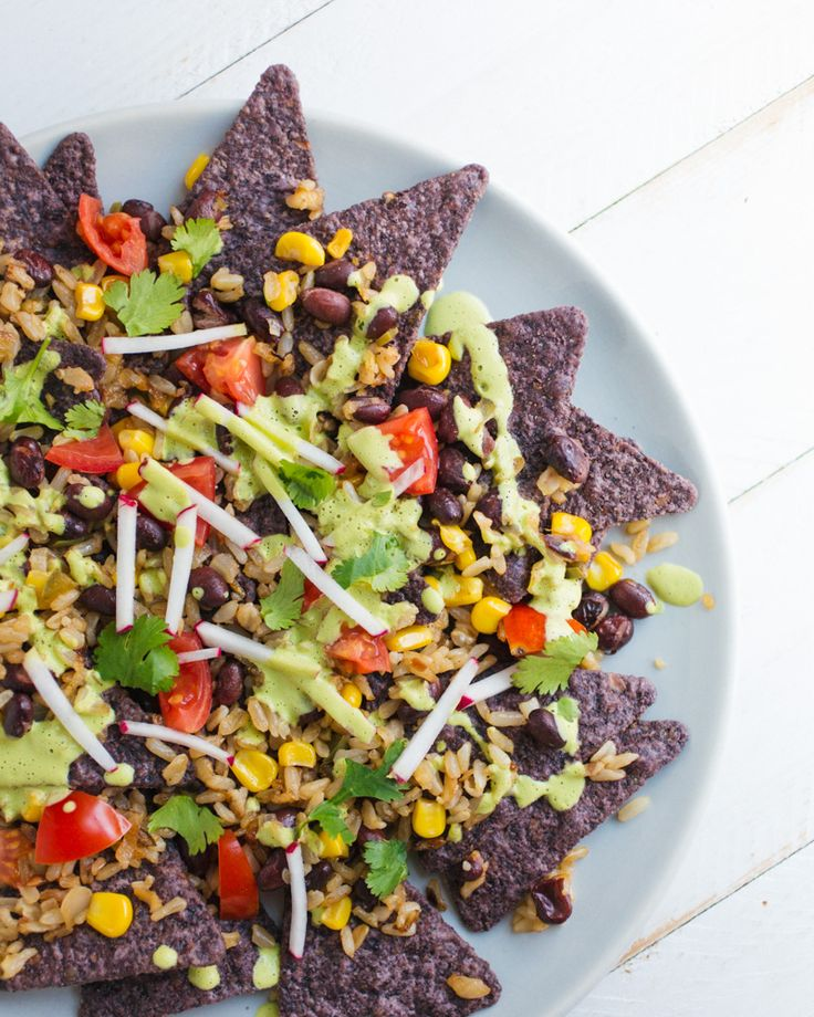 Mexican Fried Rice Nachos