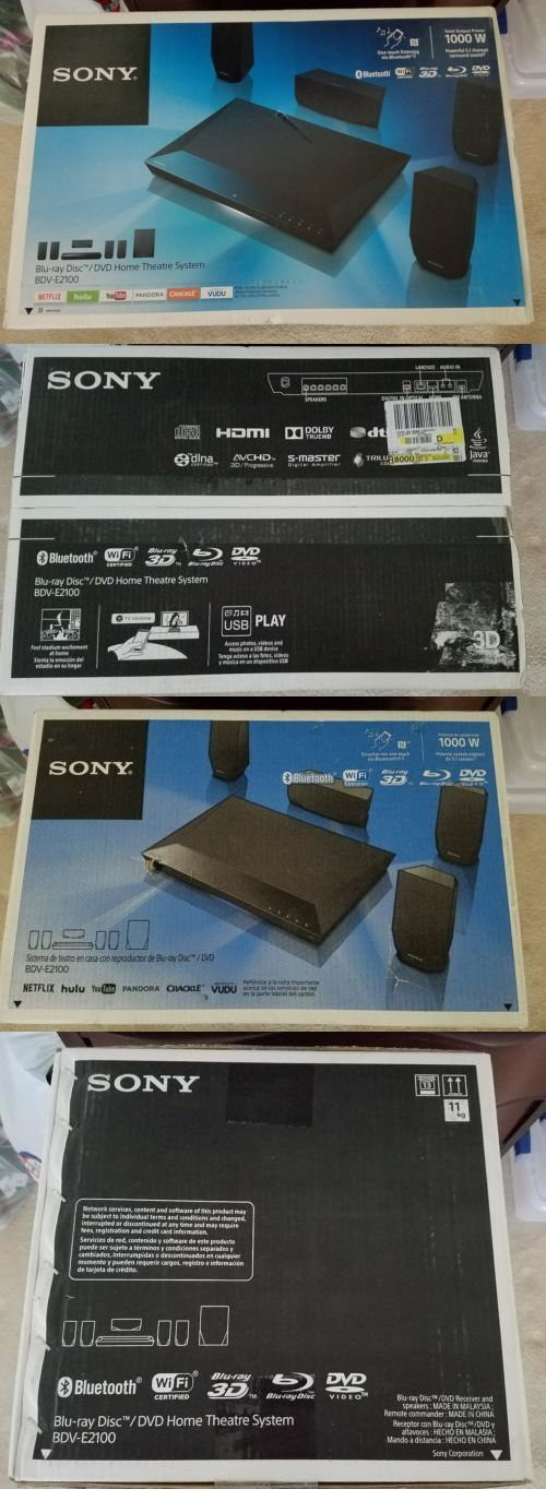 Home Theater Systems: Sony Bdv-E2100 1,000W 5.1-Channel 3D Blu-Ray Disc Home Theater System New -> BUY IT NOW ONLY: $169.99 on eBay!