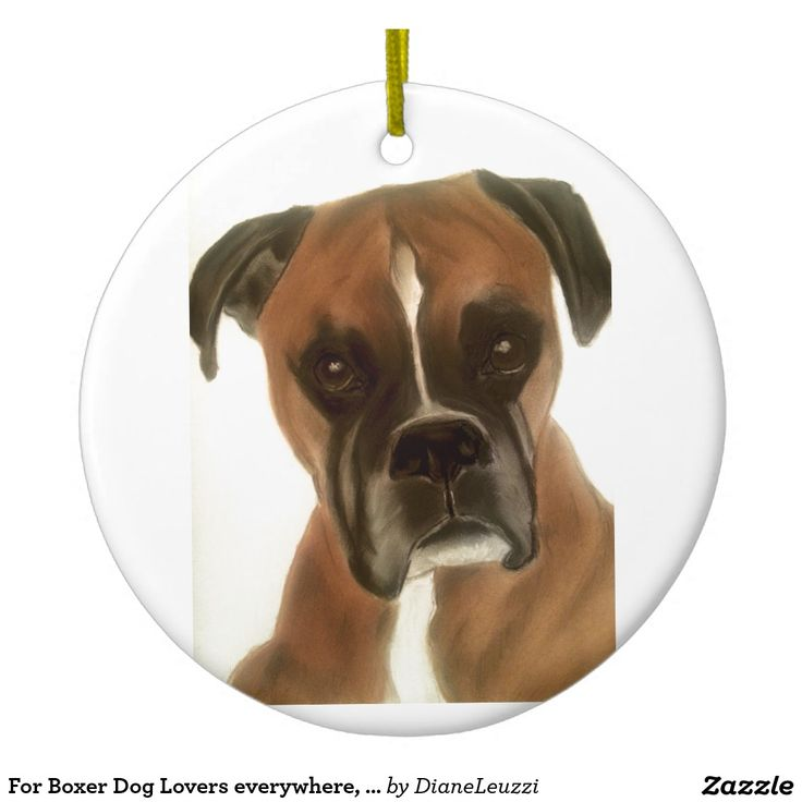 For Boxer Dog Lovers everywhere, gifts galore Ceramic Ornament