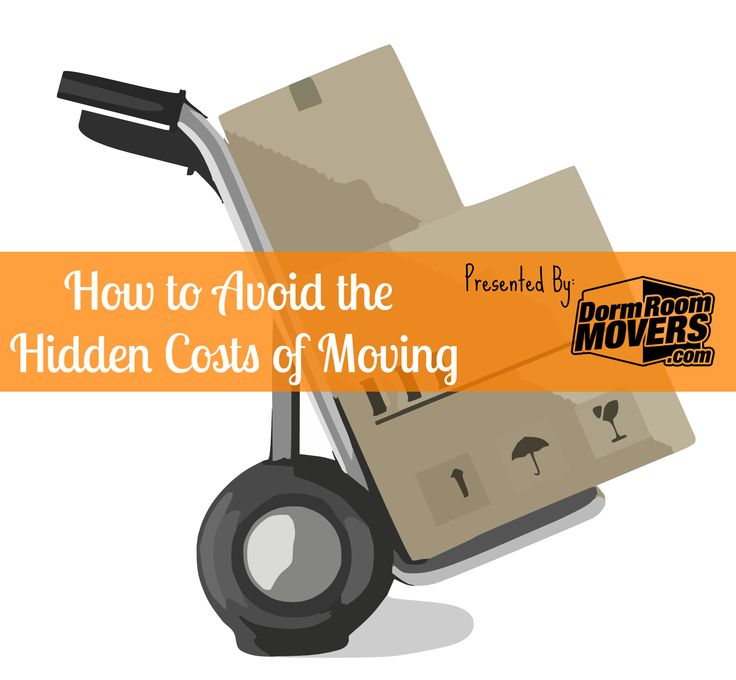 Check out how using Dorm Room Movers can help you avoid the hidden costs of moving! #worryfreemoving #stressfreemoving #nohiddencosts