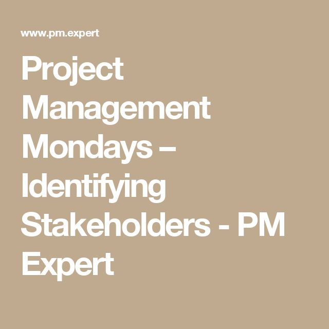Project Management Mondays – Identifying Stakeholders - PM Expert