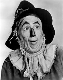 American entertainer, Ray Bolger promoting his role as the Scarecrow in the 1939 feature film, The Wizard of Oz. Description from ebay.co.uk. I searched for this on bing.com/images