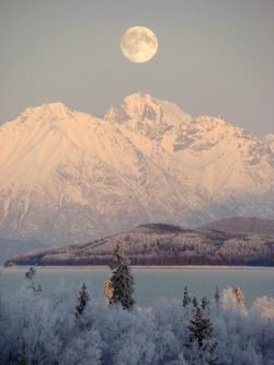 rhamphotheca:  Winter at Lake Clark National Park & Preserve, Alaska Photograph by W. Hill/NPS