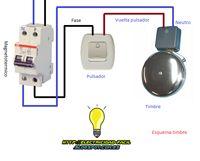 Esquemas eléctricos: esquema electrico timbre