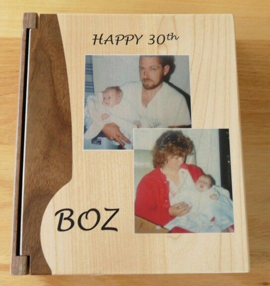 Photo album 200 pockets with timber covers. Printed directly on wood UV cured ink MyChoice@Firebridge
