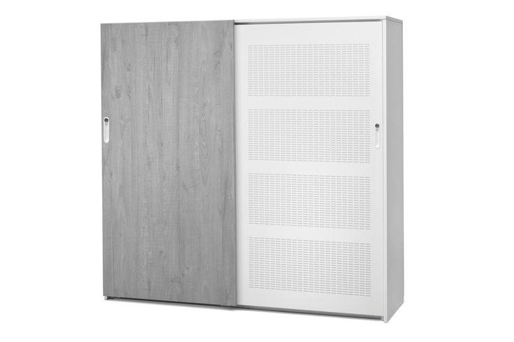 Voortman Sound And Vision Series 2.0. Kantoorkasten geschikt als ruimteverdelers op de werkvloer, voorzien van akoestische deuren en vaste panelen. http://www.deprojectinrichter.com