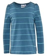 eBBe Kids Nelly T-Shirt L/S Girl Puffsl Steel Blue/Ice Blue