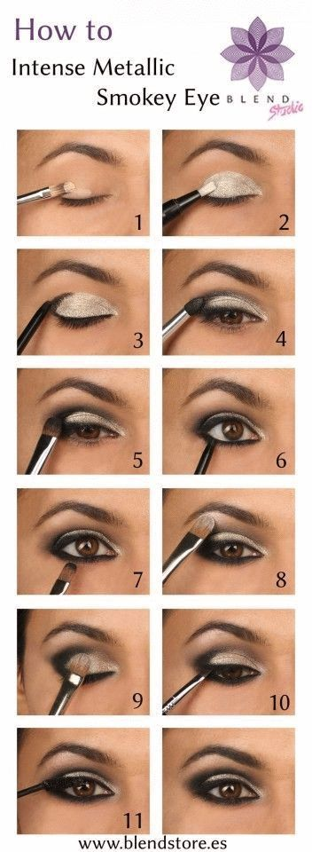 Create a gorgeous Metallic Smokey Eye look by   www.wsdear.com: