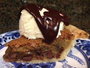 Chocolate Chip Cookie Pie-awesome pie! so easy I make these and give away to mail lady, garbage man and such