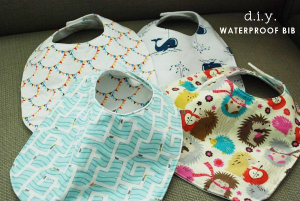 DIY Waterproof Bibs I am so doing this! My daughter was drool queen, so I am preparing for Sam